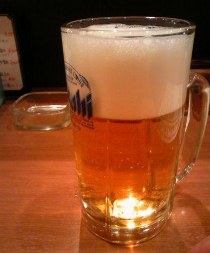 華味屋 八幡山店ビール.jpg