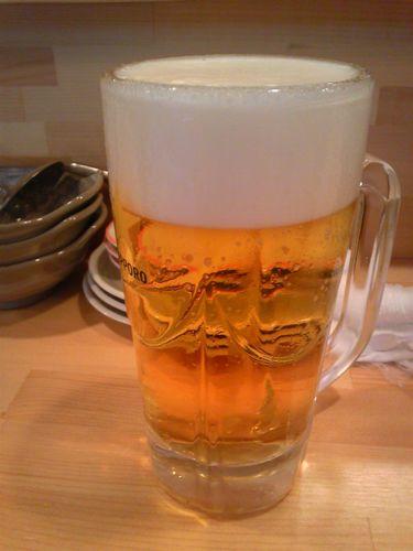 中洲餃子ビール.jpg
